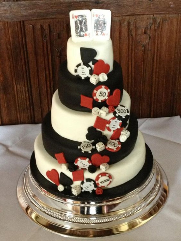 Casino themed wedding cake ideas
