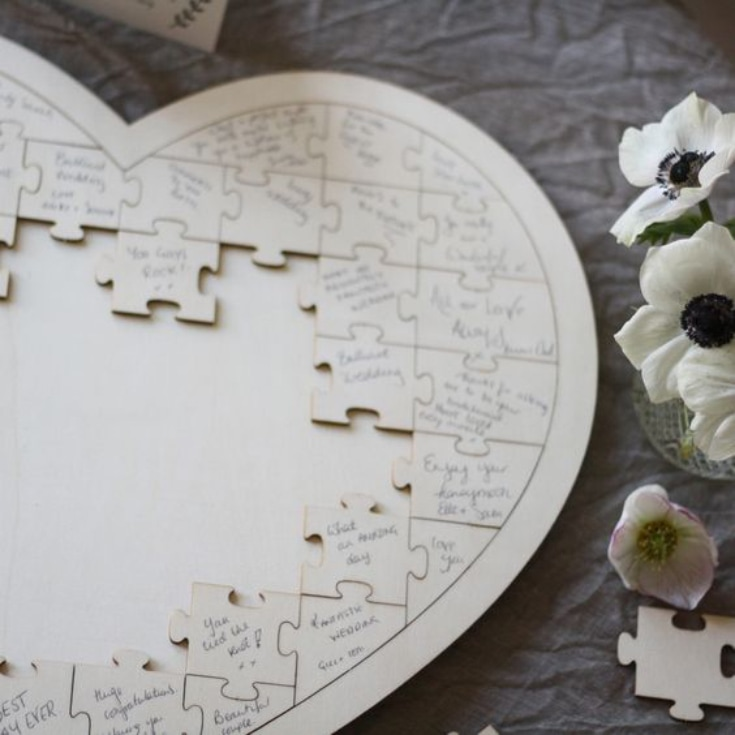 Wedding Jigsaw - guestbook idea