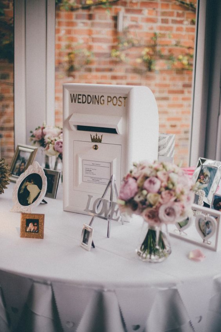 Wedding postbox Guestbook idea